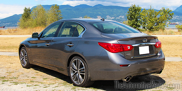 2015 Infiniti Q50 AWD Gray Exterior Rear Side