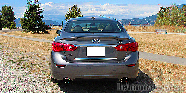 2015 Infiniti Q50 AWD Gray Exterior Rear