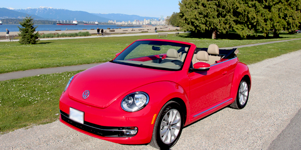 2013 Volkswagen Beetle Convertible Exterior Front High Top Down