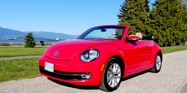 2013 Volkswagen Beetle Convertible Exterior Front Top Down