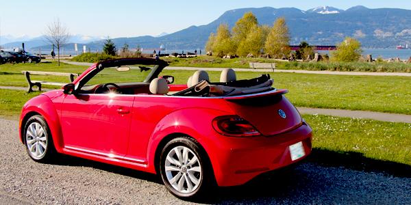2013 Volkswagen Beetle Convertible Exterior Rear Side Top Down