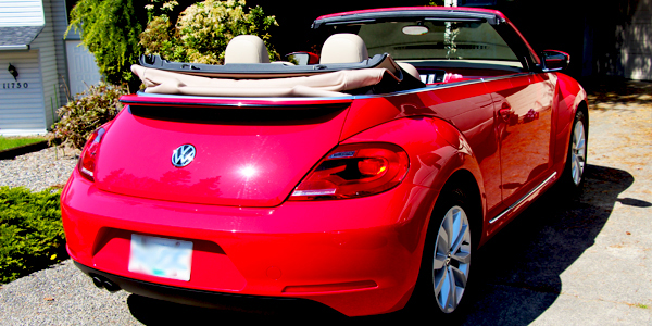 2013 Volkswagen Beetle Convertible Exterior Rear Top Down