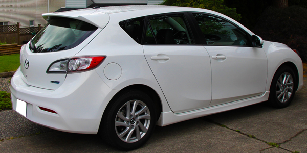 2013 Mazda 3 Exterior Rear Side