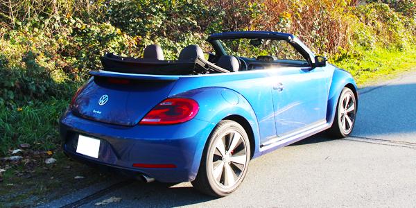 2014 Volkswagen Beetle Convertible Exterior Rear Side Top Down