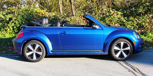 2014 Volkswagen Beetle Convertible Exterior Side Top Down