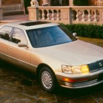 This premium luxury sedan simply rocked the world when it inaugurated the Lexus luxury brand. Assembled with the build quality of a Mercedes-Benz, finished better than a Rolls-Royce, and powered by an utterly silent 250-hp, 4.0-liter DOHC 32-valve V-8, it carried an absurdly low $ 35,000 base price. Toyota was obviously aiming at world domination, and the LS400 was a shot over the bow of well-established luxury automakers such as BMW, Mercedes, Audi, and Jaguar.