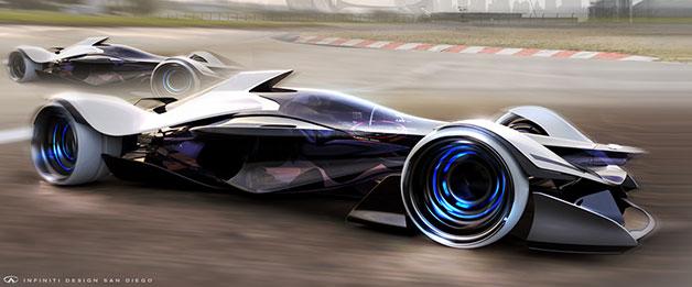 A rendering of Infiniti's SYNAPTIQ concept created for the LA Auto Show Design Challenge.