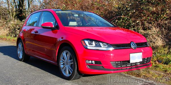 2015 Volkswagen Golf TDI Red Exterior Front Side