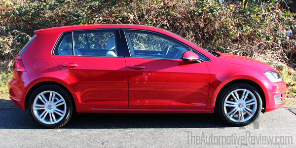 2015 Volkswagen Golf TDI Red Exterior Side