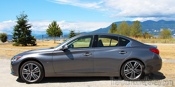 2015 Infiniti Q50 AWD Gray Exterior Side