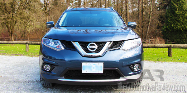 Nissan Rogue Exterior Front on Four Cylinder Engine Long Distance Driving