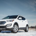 The Santa Fe Sport is the smaller, five-passenger crossover in the Santa Fe lineup, with handsomely rugged styling. Engines include a 190-hp 2.4-liter four-cylinder or a 264-hp 2.0-liter turbo four; both mate to a six-speed auto. Front-wheel drive is standard and all-wheel drive is optional. Also optional is a power liftgate that opens when you stand behind it with the fob. Handling is acceptable, if not sports-car sharp. With a nicely appointed cabin, the Santa Fe Sport is a solid all-rounder.