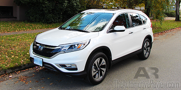 2015 Honda CR-V Elite White Exterior Front Side