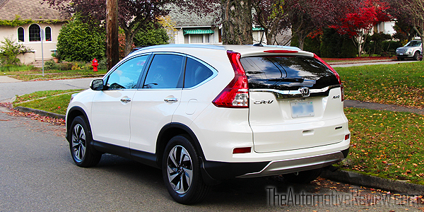 2015 Honda CR-V Elite White Exterior Rear Side