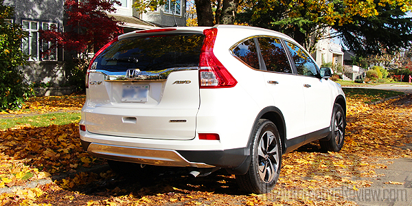 2015 Honda CR-V Elite White Exterior Rear Side2