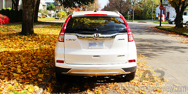 2015 Honda CR-V Elite White Exterior Rear