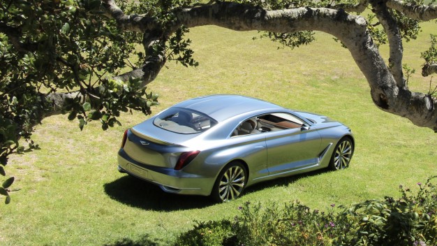 Hyundai Concept G Coupe Overhead Rear Pebble Beach