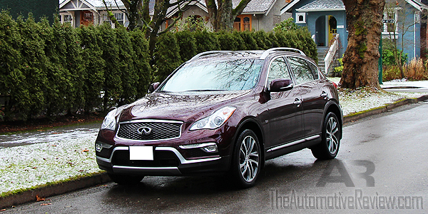 2016 Infiniti QX50 AWD Burgundy Exterior Front Side