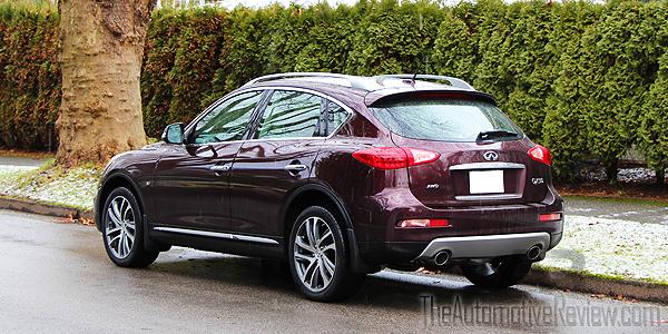 2016 Infiniti QX50 AWD Burgundy Exterior Rear Side