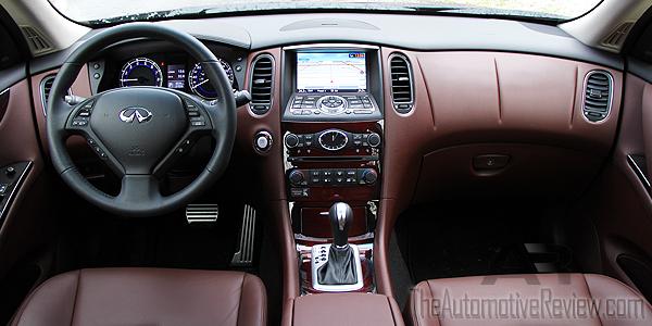 2016 Infiniti QX50 AWD Burgundy Interior Dash
