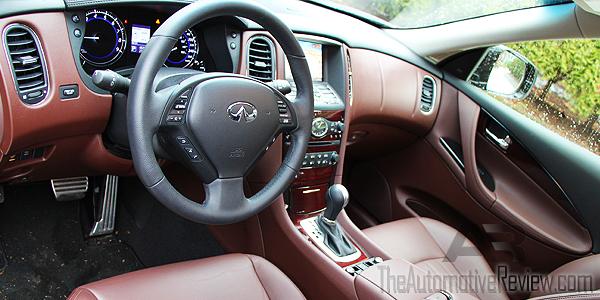 2016 Infiniti QX50 AWD Burgundy Interior Front