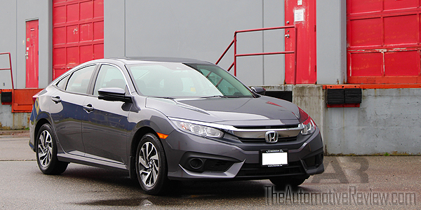 2016 Honda Civic Exterior Front Side Gray