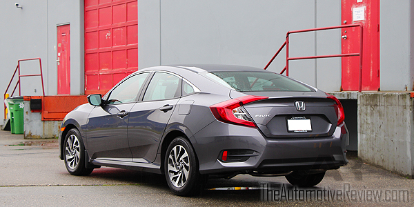 2016 Honda Civic Exterior Rear Side Gray