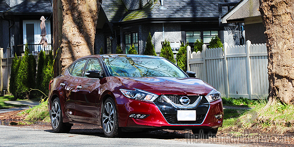 2016 Nissan Maxima Red Exterior Front Side