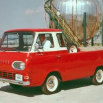 The Econoline was more conventional, with its engine mounted up front and rear-wheel drive. Dodge followed the Ford model in 1964, with a flat-nose pickup based on the A100 van. Never as popular with customers as conventional pickups, forward-control designs began to disappear by the mid-1960s as manufacturers focused on the growing demand for conventional pickups. The Corvair was discontinued in 1964, while Ford and Dodge soldiered on until 1967 and 1970, respectively.