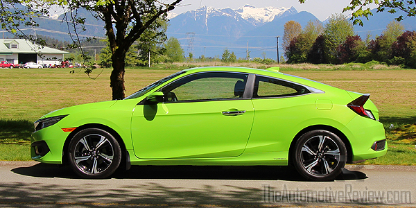 2016 Honda Civic Coupe Green Exterior Side