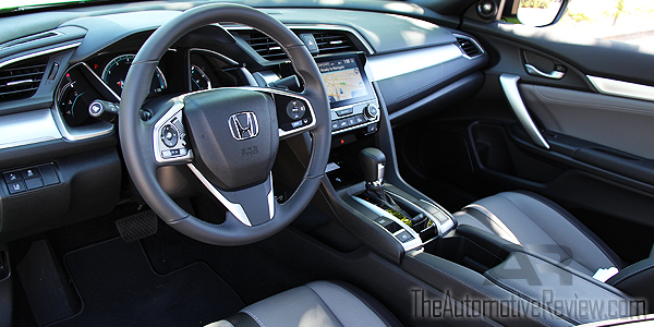 2016 Honda Civic Coupe Green Interior Front