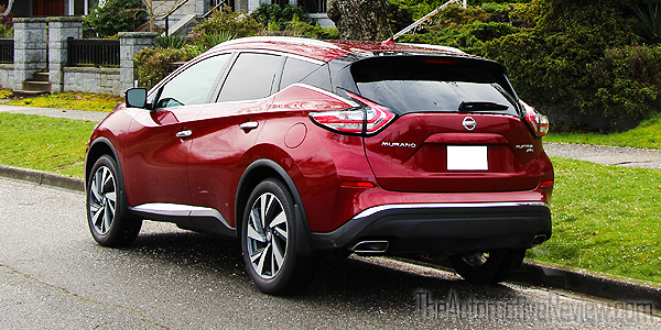 2016 Nissan Murano Cayenne Red Exterior Rear Side
