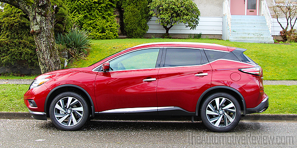 2016 Nissan Murano Cayenne Red Exterior Side