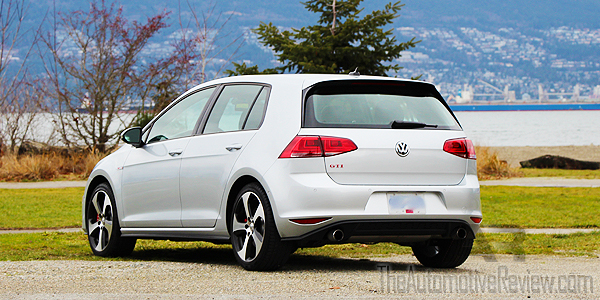 2016 Volkswagen Golf GTI Silver Exterior Rear Side