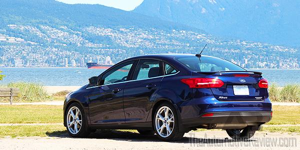 2016 Ford Focus Titanium Blue Exterior Rear Side
