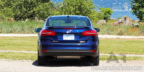 2016 Ford Focus Titanium Blue Exterior Rear