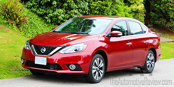 2016 Nissan Sentra Cayenne Red Exterior Front Side