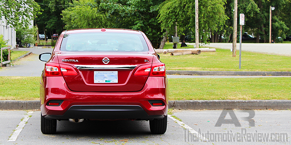 2016 Nissan Sentra Cayenne Red Exterior Rear