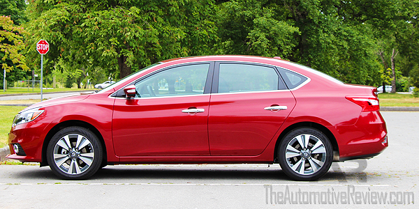 2016 Nissan Sentra Cayenne Red Exterior Side