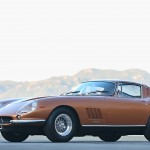 Who wouldn't want this slinky, Pininfarina-penned gem in their garage? In a sea of red Ferraris, this Nocciola (copper metallic) 275GTB/4 stands out like a Charlie Brown cymbidium orchid in a poppy field. Over the years, only three owners have called this car their own, racking up a mere 28,000 miles. ---Experts believe this example to be number 231 of 330 produced in a rather short production window running from 1966 to 1968. As with most of the Ferraris that entered the U.S. during that era, this car was imported by Luigi Chinetti Motors; it was then placed with Bill Harrah's Modern Classic Motors in Reno, Nevada. Gooding's pre-auction evaluation drives revealed a particularly well-sorted powertrain, a 3285-cc four-cam V-12 with six Weber 40 DCN carbs and a five-speed manual transaxle.