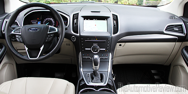 2016 Ford Edge Titanium Bronze Fire Interior Front Dash