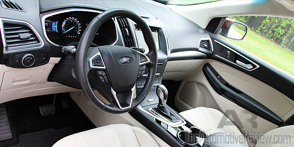 2016 Ford Edge Titanium Bronze Fire Interior Front