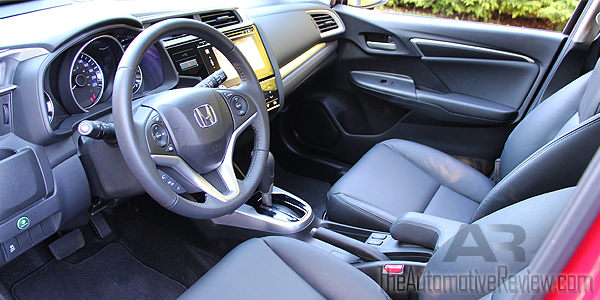 2016 Honda Fit Red Interior Front