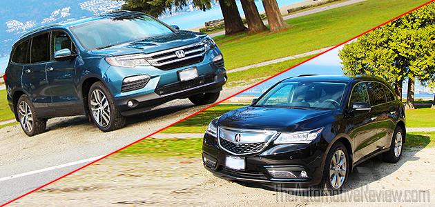 Acura the automotive review for Acura mdx vs honda pilot