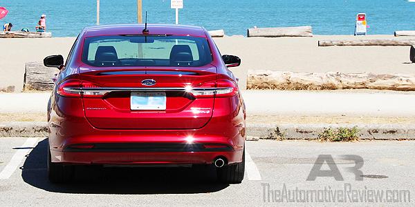 2017-ford-fusion-hybrid-titanium-ruby-red-exterior-rear
