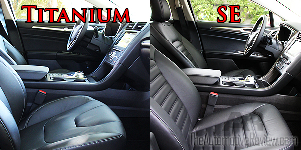 Leather Seat Comparison Anium Vs Se