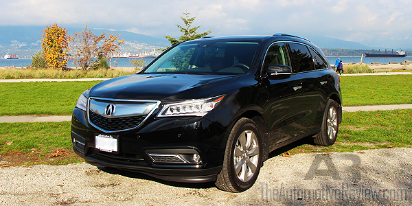 Comparison 2016 Honda Pilot vs 2016 Acura MDX - Black MDX Exterior Front Side