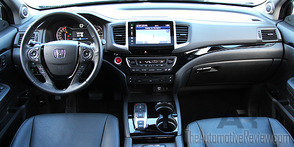Comparison 2016 Honda Pilot vs 2016 Acura MDX - Blue Pilot Interior Dash